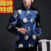 唐裝上衣-中國風生日祝壽喜慶男中山裝4色66ac36【時尚巴黎】