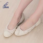 蕾絲*鵲兒cheers*法式浪漫蕾絲芭蕾舞平底包鞋-二色 現貨【R999】