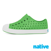 native 大童鞋 JEFFERSON 小奶油頭鞋-蚱蜢綠x貝殼白