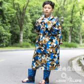 小孩學生幼兒園寶寶雨披男女童韓版防水雨衣帶書包位LY4689『愛尚生活館』
