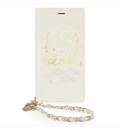 88柑仔店-GARMMA Hello Kitty iPhone 7/6S/6 4.7吋側掀式摺疊皮套-金典金