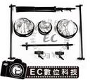 【EC數位】反光板套裝組 三反光板支架套裝組 80CM 60CM二合一反光板  服裝人像攝影