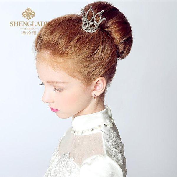 兒童髮飾 女童皇冠公主小皇冠演出頭飾花童禮服配飾 GB1578『優童屋』