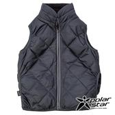 PolarStar 兒童 雙面穿羽絨背心『炭灰』P18255 戶外 休閒 登山 露營 保暖 禦寒 防風 刷毛