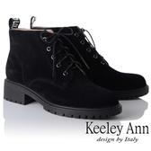 ★2018秋冬★Keeley Ann龐克搖滾~街頭英文字母綁帶短靴(黑色) -Ann系列