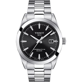 TISSOT 天梭 GENTLEMAN 80小時矽游絲紳士機械手錶 T1274071105100