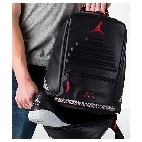 NIKE Air Jordan Retro 3 AJ3 爆裂紋 黑水泥 後背包 9A0018-KR5