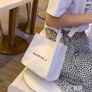 日系帆布包女包包夏天新款潮韓版百搭斜背包手提包少女小布包 3C優購