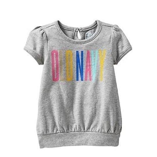 女童短袖上衣 T恤衣服 灰色 | Old Navy童裝 (兒童/小孩/小朋友/幼童/小童/孩童/寶寶)