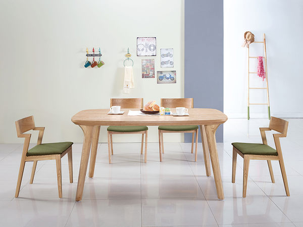 【森可家居】維克托4.5尺餐桌(不含椅) 8JX509-3 無印北歐風 木紋質感 出清折扣
