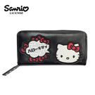 【正版授權】凱蒂貓 刺繡 長夾 皮夾 錢包 Hello Kitty 三麗鷗 Sanrio - 129847