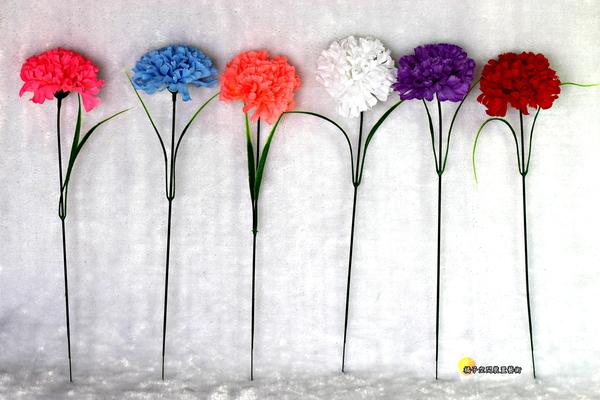 單枝 人造康乃馨. 母親節禮物花束☆人造花.居家.店面.櫥窗擺飾 [魚痴的秘密花園]