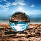 水晶球 水晶球玻璃風水擺件攝影拍照雜技透明白色客廳辦公桌玄關裝飾品  MKS雙11狂歡