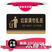 標示牌 請勿隨地吐痰請勿亂扔丟垃圾PVC溫馨提示標識墻貼牌