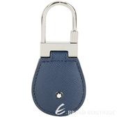 Mont Blanc 萬寶龍 Sartorial 防刮牛皮鎖釦/鑰匙圈(藍色) 1920392-34
