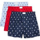 Tommy Hilfiger 男3件組平角內褲(藍色/紅色什錦)