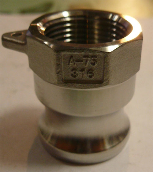 水用快速接頭 A型 1-1/2英吋 PT內牙 材質:白鐵316#  台灣製造