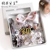 新年鉅惠兒童發夾頭飾女童發飾韓國公主可愛超仙寶寶發圈潮蝴蝶結發卡套裝 芥末原創