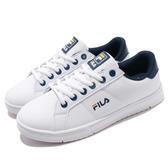 Fila 復古網球鞋 C302T 基本款 小白鞋 白 藍 深藍 經典款 男鞋 運動鞋【PUMP306】 1C302T133
