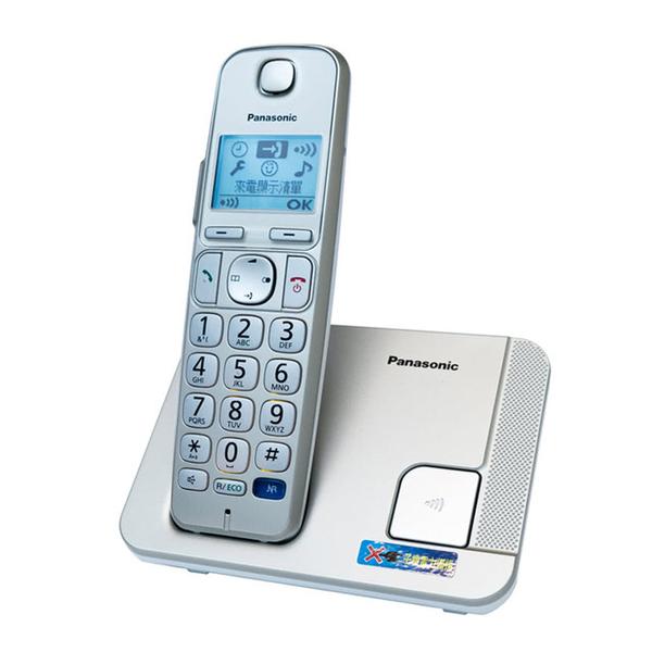 【福利品有刮傷】 Panasonic 國際牌數位DECT 無線電話 KX-TGE210 中文選單