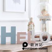 擺件/DIY創意英文字母(白色小號)家居裝飾品「歐洲站」