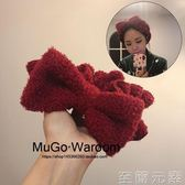 髮帶MuGo日式軟綿系列 甜美蝴蝶結打結發帶洗臉敷面膜束發帶超氣質 至簡元素