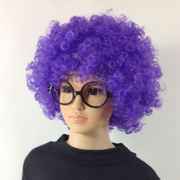 假髮材料二次元爆炸頭頭發發型男士頭套式假發女士高效紫色殺馬特男款 非凡小鋪