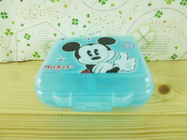 【震撼精品百貨】Micky Mouse_米奇/米妮 ~4格盒-藍米奇