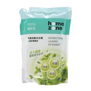 HomeZone除臭抑菌洗衣精1800ml補充包