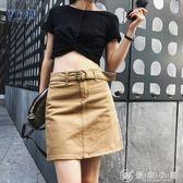 杉唯美夏正韓氣質牛仔短裙女修身牛仔包臀裙一步裙A字裙 理想潮社