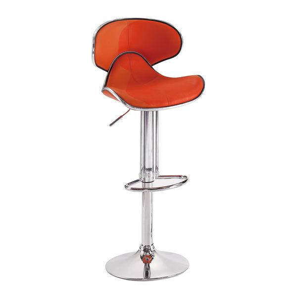 【森可家居】奈特橘色吧台椅 7SB385-5