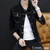 外套 牛仔夾克男士韓版修身青少年棒球服潮男裝牛仔衣秋冬外套【韓國時尚週】