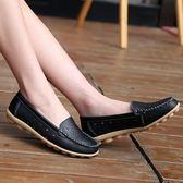 韓版時尚豆豆鞋鏤空平底鞋防滑套腳懶人鞋學生女鞋
