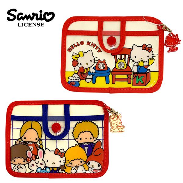 【日本正版】三麗鷗 票卡夾 票夾 證件夾 悠遊卡夾 凱蒂貓 Hello Kitty 雙子星 美樂蒂 856026 856248