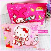 《最後3個》Hello Kitty 凱蒂貓 美樂蒂 正版 船型化妝包 鉛筆袋 小物收納包 B01801