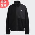 【現貨】Adidas W BOA JACKET 女裝 外套 立領 拼接 絨毛 口袋 黑【運動世界】HD0364