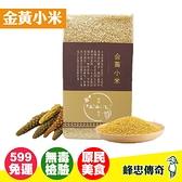 【峰忠傳奇】金黃小米300g 無毒驗證 台東小農 原住民小米(300g) 年貨【好時好食】