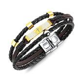 【5折超值價】經典復古美式風格編織皮繩造型男款手環
