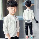 雙12購物節   男童長袖T恤春秋裝季2018新款兒童中大童韓版上衣POLO小孩衣服潮A   mandyc衣間