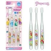 日本限定 Skater 迪士尼公主系列 貝兒 仙杜瑞拉 小美人魚 長髮公主 透明款 牙刷 三入套組