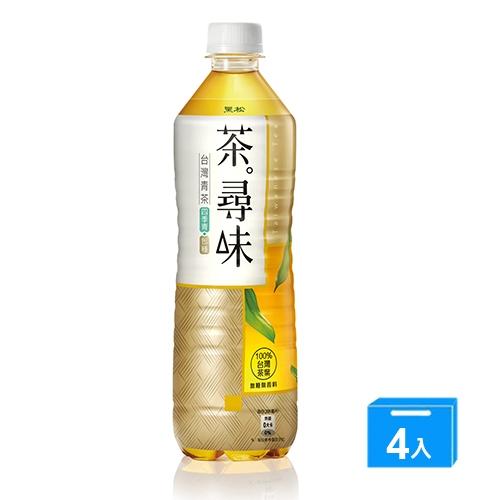 黑松茶尋味台灣青茶590ml x 4【愛買】