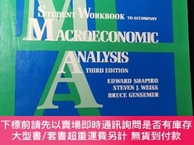 二手書博民逛書店STUDENT罕見WORKBOOK TO ACCOMPANY MACROECONOMIC ANALYSIS (大1