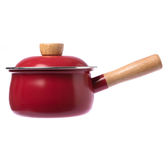HOLA 單柄多功能調理湯鍋 1000ml 櫻桃紅 碳鋼鍋