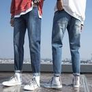 牛仔褲男直筒寬鬆長褲男士春夏褲子韓版潮流百搭春秋款潮牌九分褲 設計師