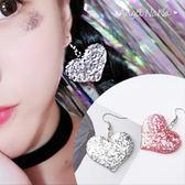 耳環《可改夾式》《可改S925銀針》萌萌彩色愛心星星閃亮耳鈎 (SRA0056) AngelNaNa