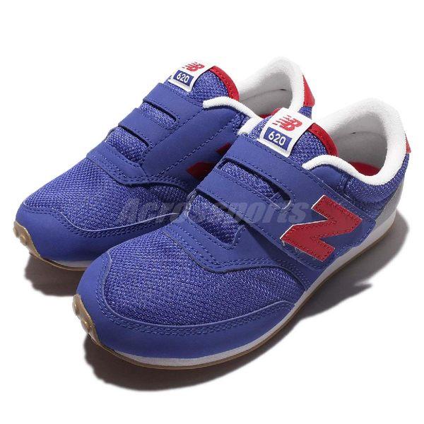 New Balance 復古慢跑鞋 K620BRP W 藍紅 灰 620 魔鬼氈 休閒鞋 中童【PUMP306】 K620BRPW