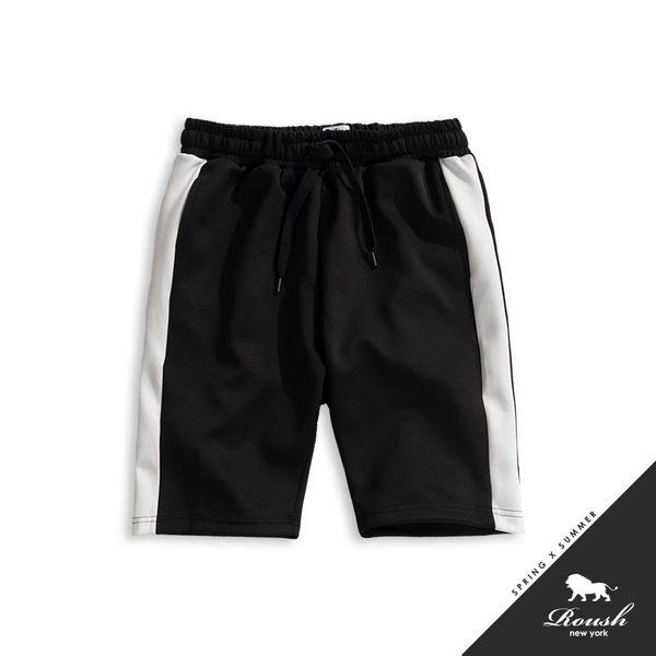 【Roush】側邊配色復古運動短棉褲 - 【825329】