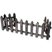 ㄇ型圍籬-燻木色146CM