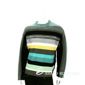 KENZO 綠彩色織紋拼接羊毛針織上衣 1540427-08