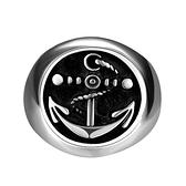 鈦鋼戒指 船錨-復古歐美風龐克搖滾生日情人節禮物男飾品73le218[時尚巴黎]